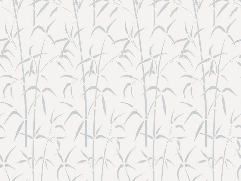 Витраж Бамбук белый